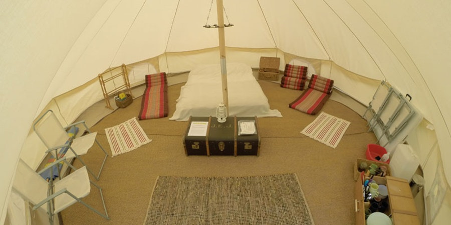 Meadow View Bell Tents - room