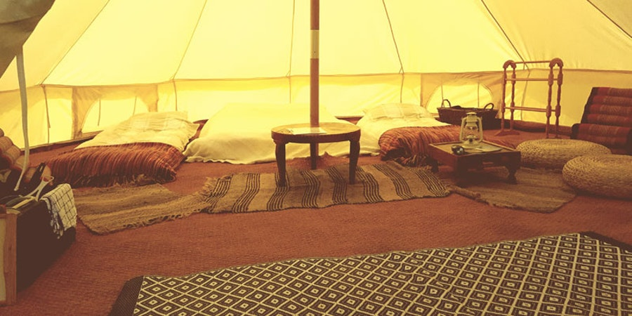 Meadow View Bell Tents - bedroom