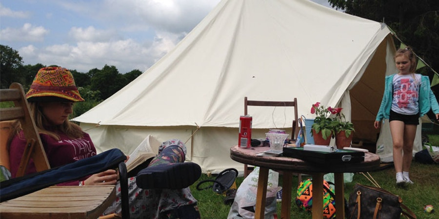 Meadow View Bell Tents - table